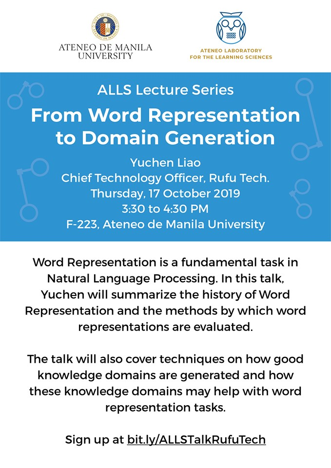 From Word Representation to Domain Generation - A talk by Yuchen Liao, CTO of Rufu Tech